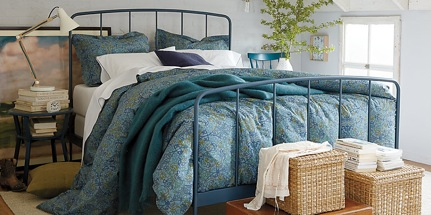 Winter is cold make sure your bedding is warm parkers for Crate barrel comforter