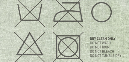 Dry Clean Label