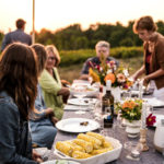 our tips on how to host an outdoor dinner party.