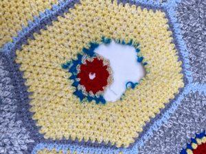 wool blanket, ripped, repair
