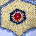 repair, wool blanket, patch, yellow, red